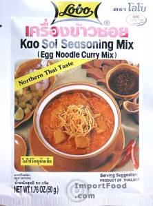 Kao Soi seasoning mix found at ImportFood.com
