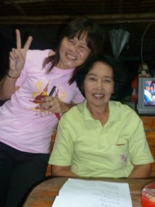 My mae and neighbor, Pii Mem, during my stay in Thailand. Kitung mak mak.