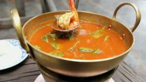 Thai sour curry with shrimp