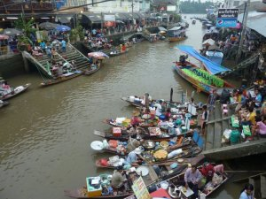 Ampawa Floating Market near Bangkok. Floating markets are a BIG part of central Thailand culture. I'll be writing a blog entry about them soon!